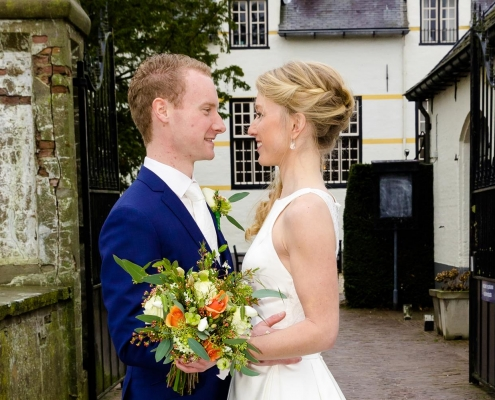 Winterbruiloft Slot Doddendael trouwfotograaf Ewijk